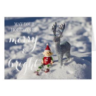Cartão de Natal alegre & brilhante