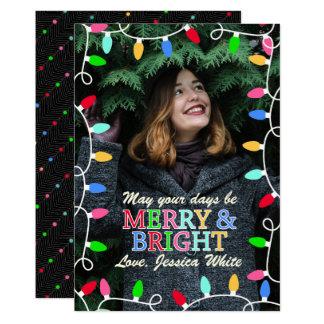 Cartão de Natal alegre & brilhante da foto do