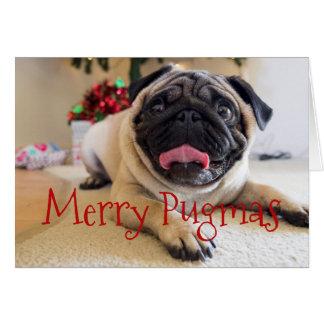 Cartão de Natal alegre de Pugmas