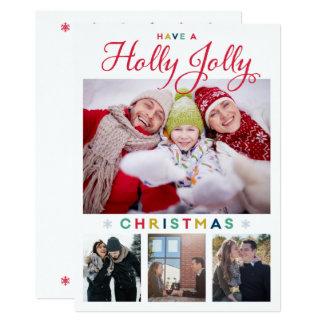 Cartão de Natal alegre do azevinho
