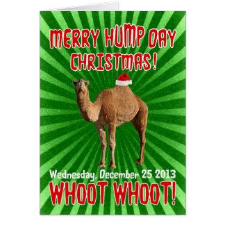 Cartão de Natal alegre do dia de corcunda