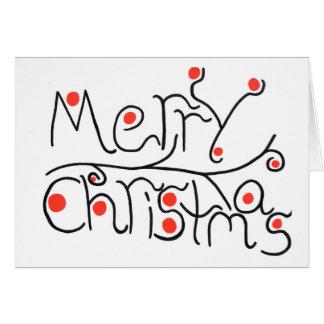 Cartão de Natal alegre dos chirstmas