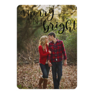 Cartão de Natal alegre e brilhante