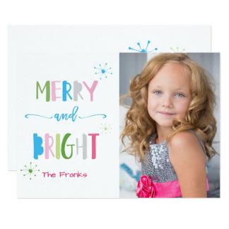 Cartão de Natal alegre e brilhante do feriado Convite 12.7 X 17.78cm
