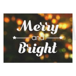 """Cartão de Natal """"alegre e brilhante"""" (VAZIO)"""