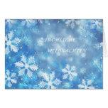 Cartão de Natal alemão com flocos de neve