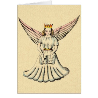 Cartão de Natal alemão de Christkind do anjo do