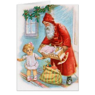 Cartão de Natal alemão do papai noel