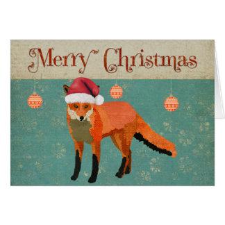 Cartão de Natal ambarino do Fox