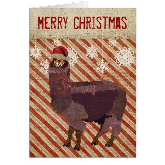 Cartão de Natal Amethyst da alpaca