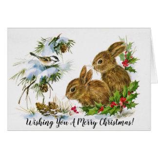 Cartão de Natal animal bonito