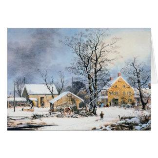 Cartão de Natal antiquado