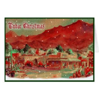 Cartão de Natal antiquado de Tubac