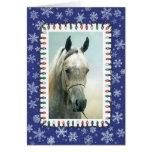 Cartão de Natal árabe cinzento do vazio do cavalo