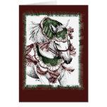 Cartão de Natal árabe do feriado do cavalo