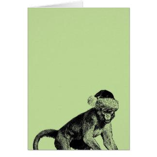 Cartão de Natal ateu do macaco céptico