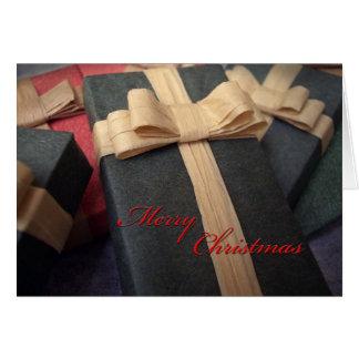 Cartão de Natal atual verde