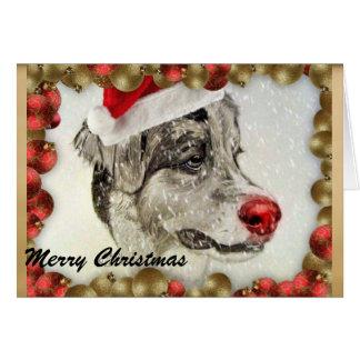 Cartão de Natal australiano do pastor