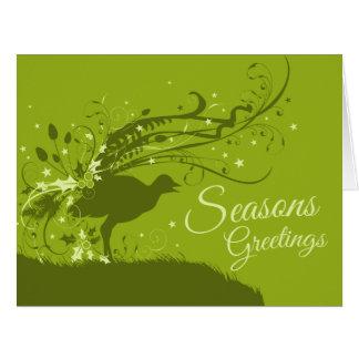 Cartão de Natal australiano verde festivo do
