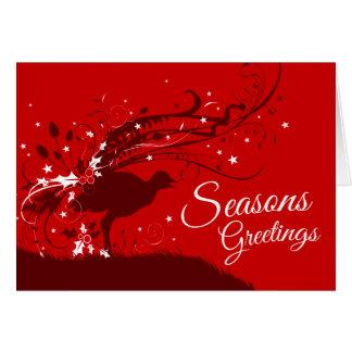 Cartão de Natal australiano vermelho festivo do