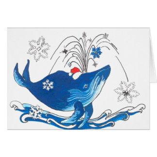 Cartão de Natal bonito da baleia de Humpback dos