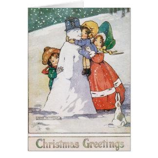 Cartão de Natal bonito do 1920