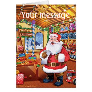 cartão de Natal bonito do divertimento da oficina