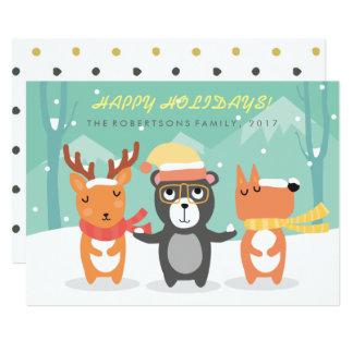 Cartão de Natal bonito dos caráteres do Natal do
