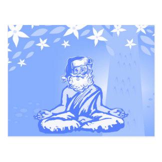 Cartão de Natal budista do papai noel