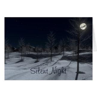 Cartão de Natal calmo do inverno da noite