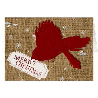 Cartão de Natal cardinal