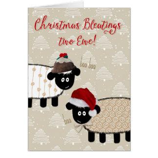 Cartão de Natal - carneiro engraçado