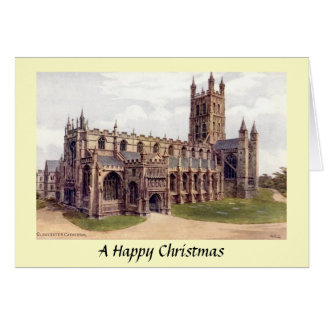 Cartão de Natal - catedral de Gloucester