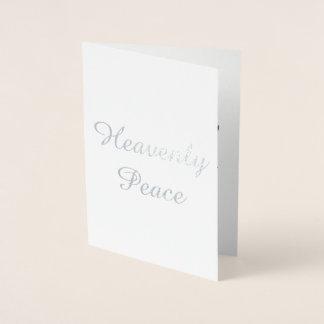 Cartão de Natal celestial da paz
