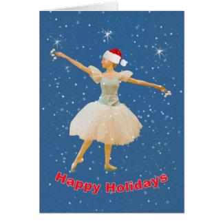 Cartão de Natal com dançarino de balé