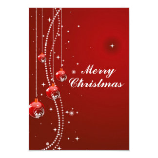 Cartão de Natal com pérolas brancas