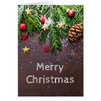 Cartão de Natal com vazio para dentro