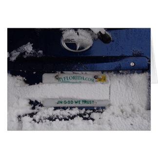 Cartão de Natal cómico do Snowbird de Florida