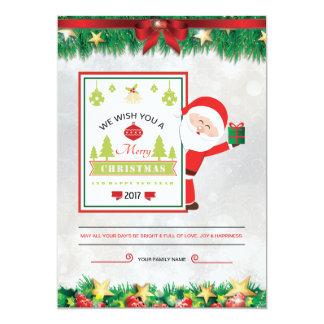 Cartão de Natal Convite 12.7 X 17.78cm