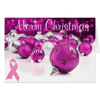 Cartão de Natal cor-de-rosa