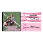 Cartão de Natal cor-de-rosa da foto da consciência Cartoes Com Fotos Personalizados
