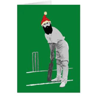 Cartão de Natal Cricketing
