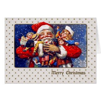 Cartão de Natal customizável de Papai Noel do