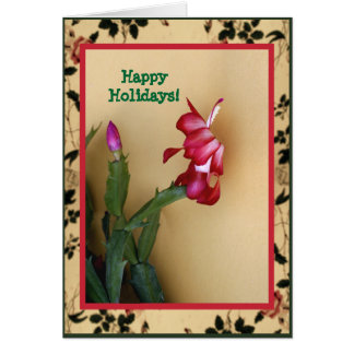 Cartão de Natal customizável do cacto de Zago