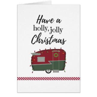 Cartão de Natal customizável do campista do