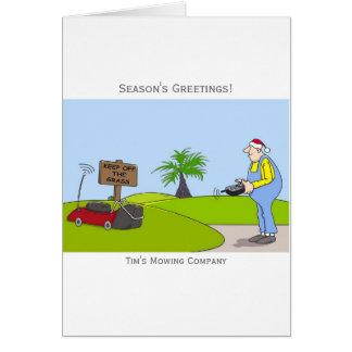 Cartão de Natal customizável do serviço do corte