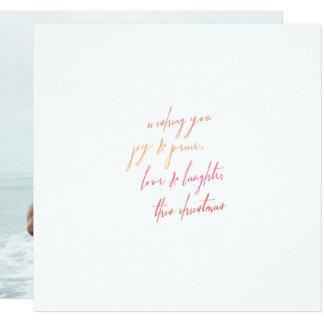 Cartão de Natal da alegria & da paz, do amor & do