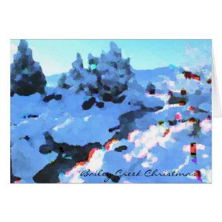 Cartão de Natal da angra de Bailey