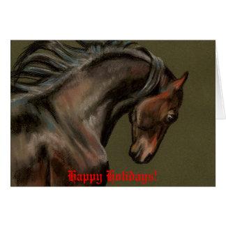 Cartão de Natal da arte do cavalo de Morgan