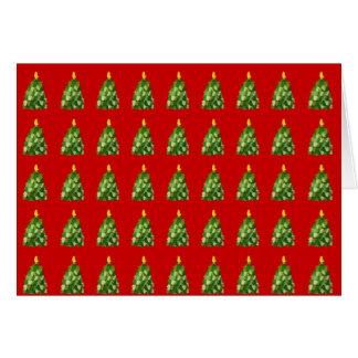 Cartão de Natal da árvore do mitene